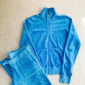 ✨JUICY COUTURE Blue Velour Sweatsuit